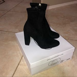 Steve Madden Edit Vegan Suede Booties